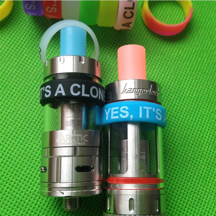 Anel de Silicone para e Mod Cigarro Vapor Silicone Banda Vape Anel de Várias Cores Não-Skid Não-Deslizamento Anel de Silicone para SUB mini / sub nano Sub tanque