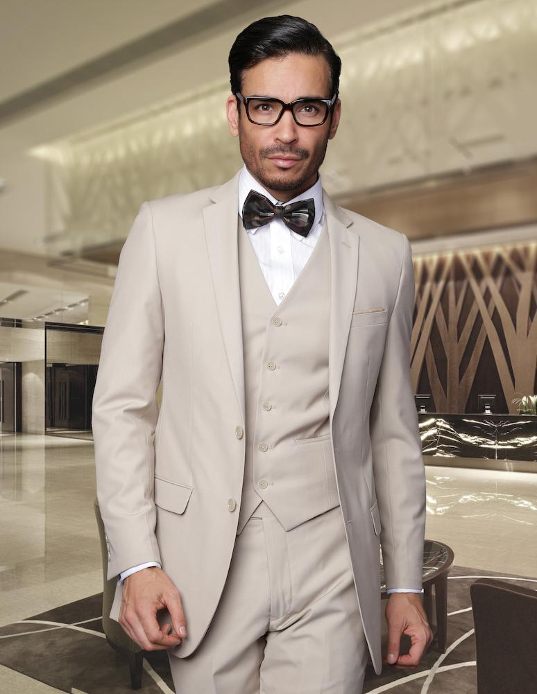 New Design Slim Fit Khaki Groom Tuxedos Notched Lapel Best Men'S ...