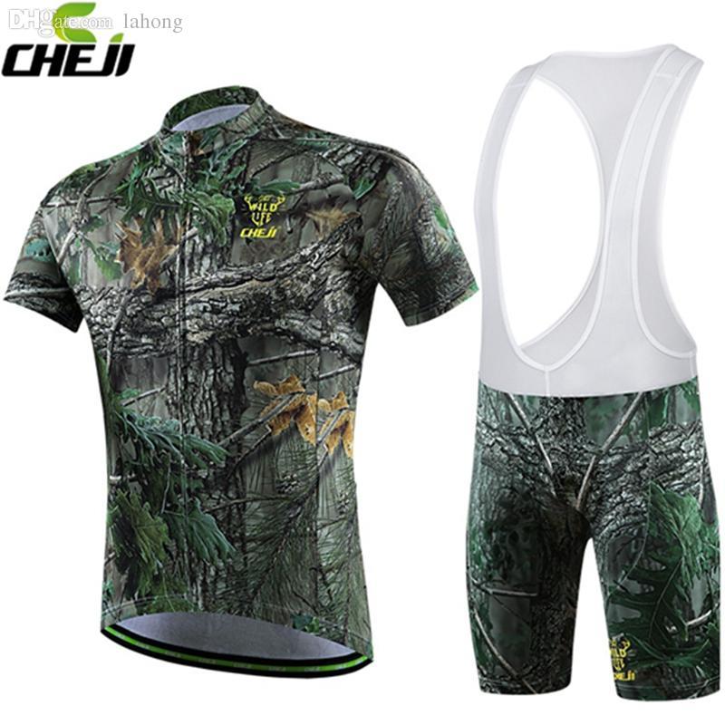 406fd94a0 Wholesale-New CHEJI Camouflage Cycling Jersey And Bib Shorts Set ...