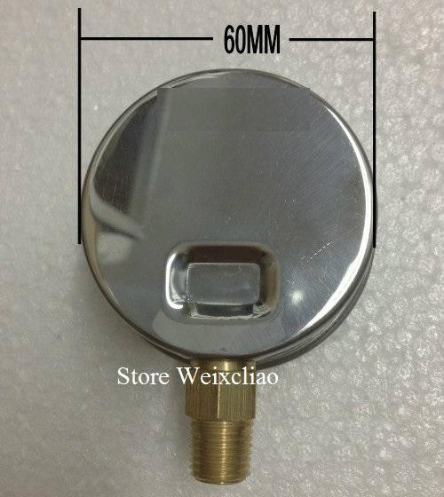 Pressure Gauge -760-0mmHg 1/4PT Vacuum Meter for Hydraulic Power Machine Pressure Gauge Manometer 1