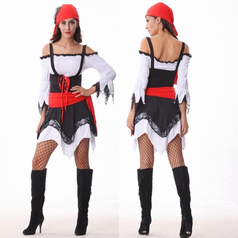 womens halloween costumes sexy pirate costumes pirate fancy dress costumes sailor cosplay exotic apparel game uniforms group girls halloween costumes group - Exotic Halloween Costume