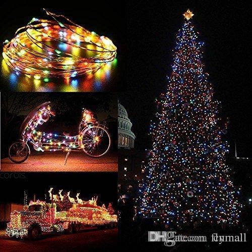 solar christmas string light 120 leds 20ft waterproof starry copper wire fairy lighting outdoor holiday garden yard tree light dhl free clear globe string