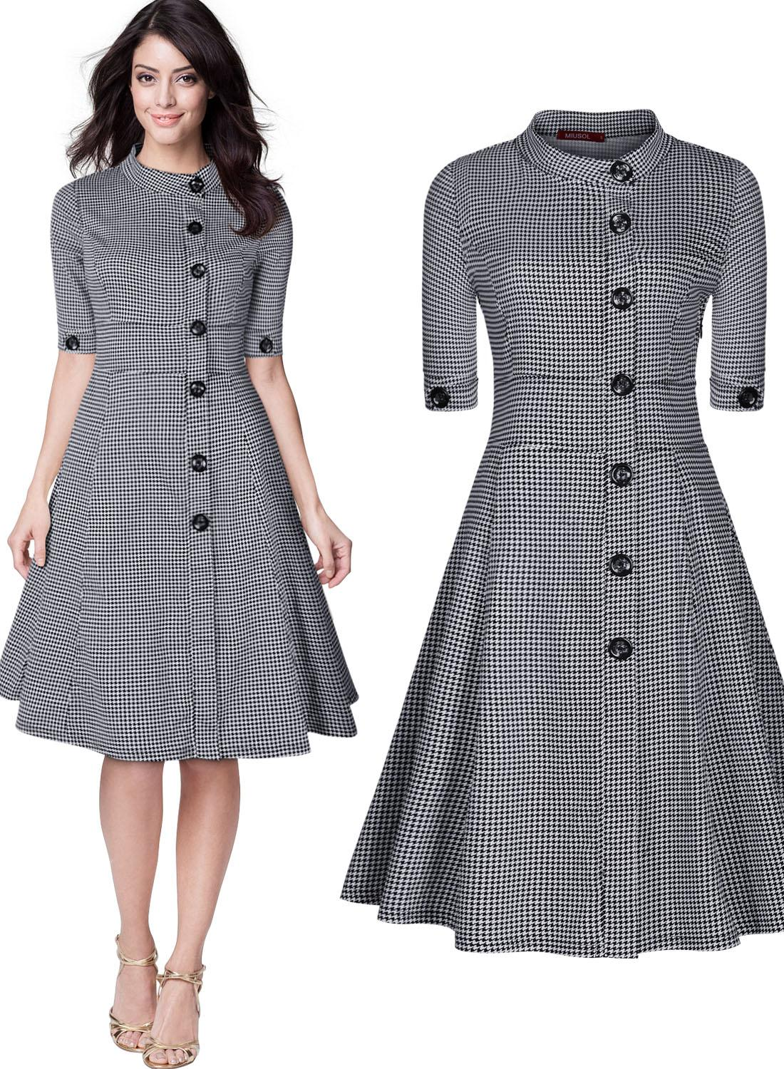 Women 39 s classic 1950 39 s vintage audrey gingham checks for Best check designs