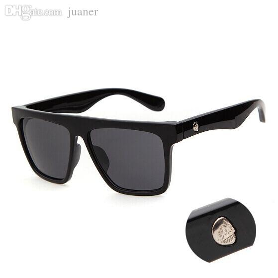 00caf19f3d Wholesale-Vogue Square Sunglasses Men SKULL Logo Mirrored Sun ...