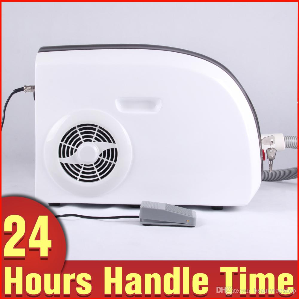 Portable 532nm 1064nm Q Switch ND Yag Laser Tattoo Removal Skin ...