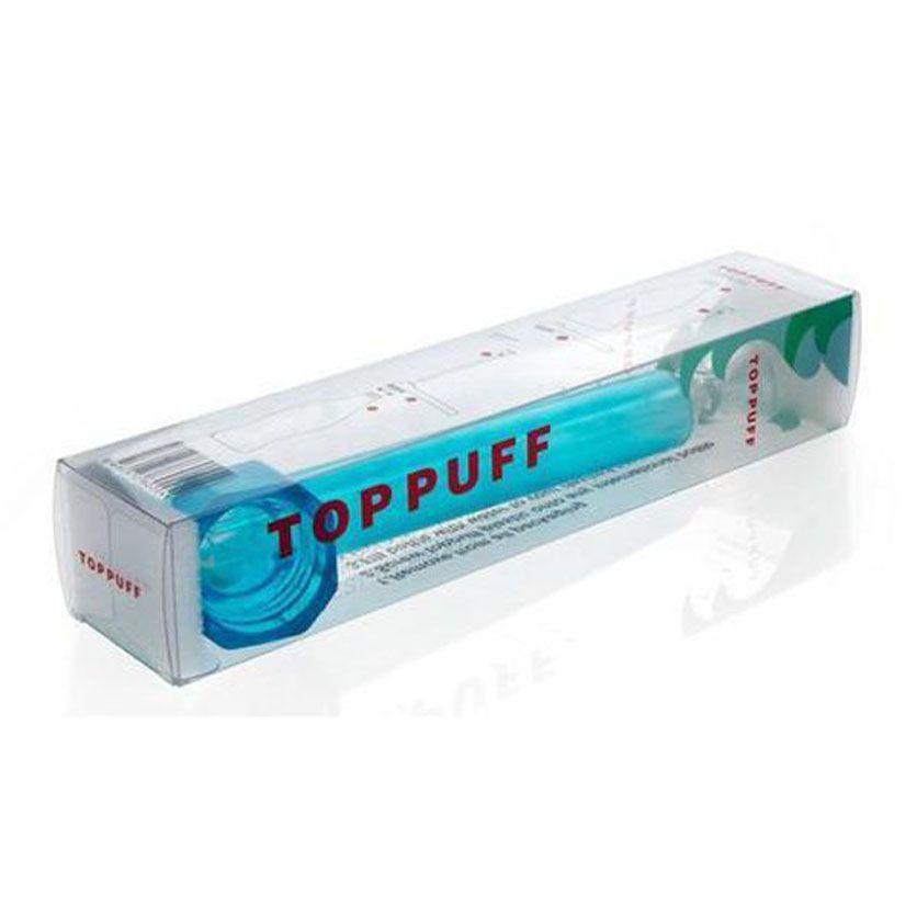 Voyager en haut de l'eau Puff toppuff bong en verre portable Smoking Pipe instantané portable vis sur bouteille convertisseur couleur mélangée