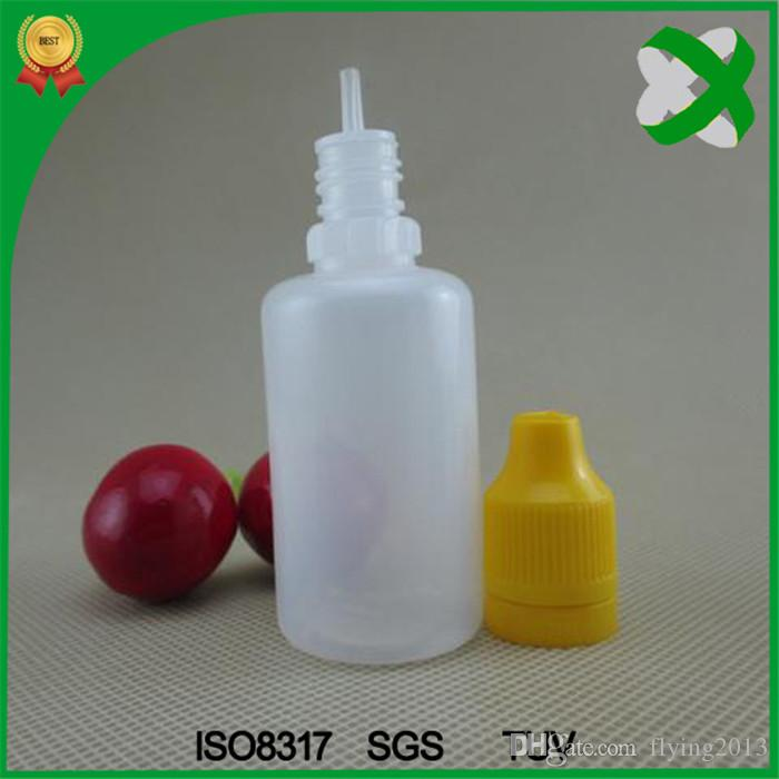 PE 전자 액체 병 탬퍼 분명 childproof 모자 Dropper 병 10 ml / 15 ml / 20 ml / 30 ml 다채로운 모자