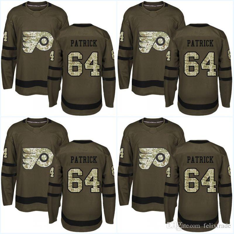 Camouflage New Logo Philadelphia Flyers Jersey 64 Nolan Patrick 51 ... 9b65ea3a7