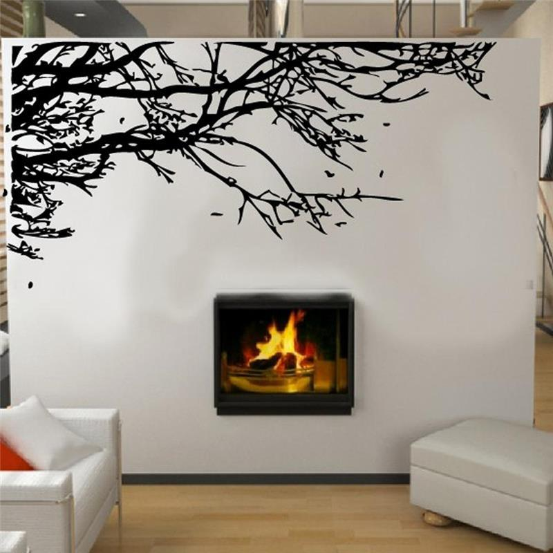 large cm stunning black tree branch removable wall art stickers diy pvc vinyl decals mural home decor decoration make your own wall decals make your