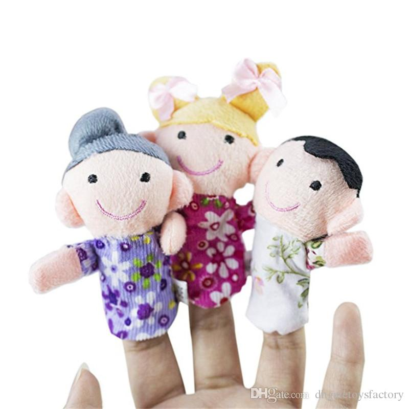 Hot Sale Cartoon Biological Animal Finger Puppet Plush Toys Child Baby Favor Dolls Baby Kids Children Gift Toy