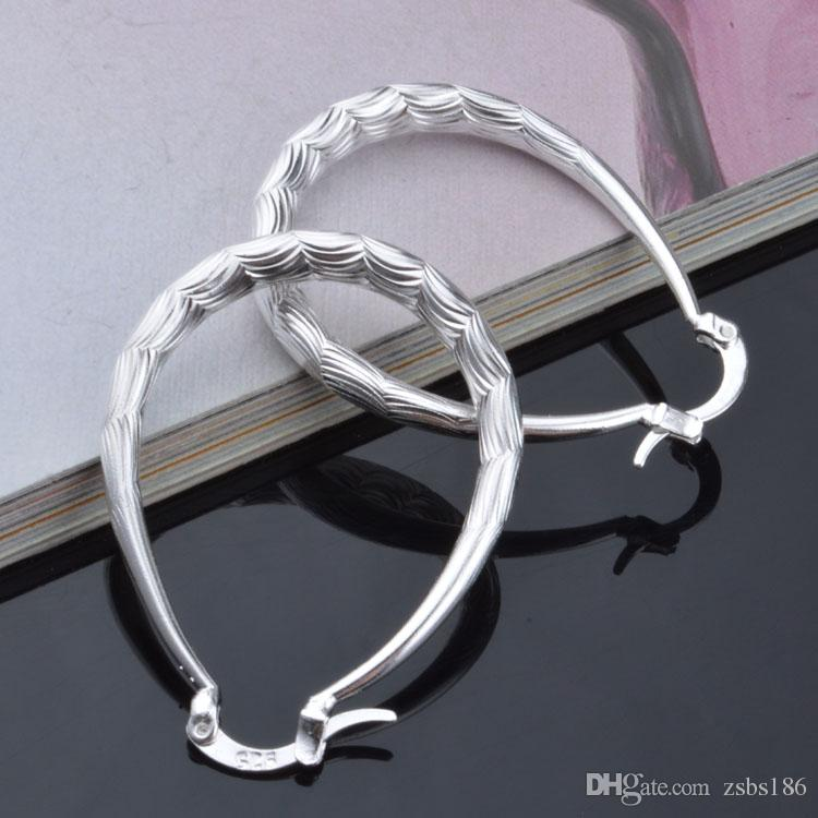 2015 new design 925 sterling silver hoop earrings fashion classic jewelry for girls