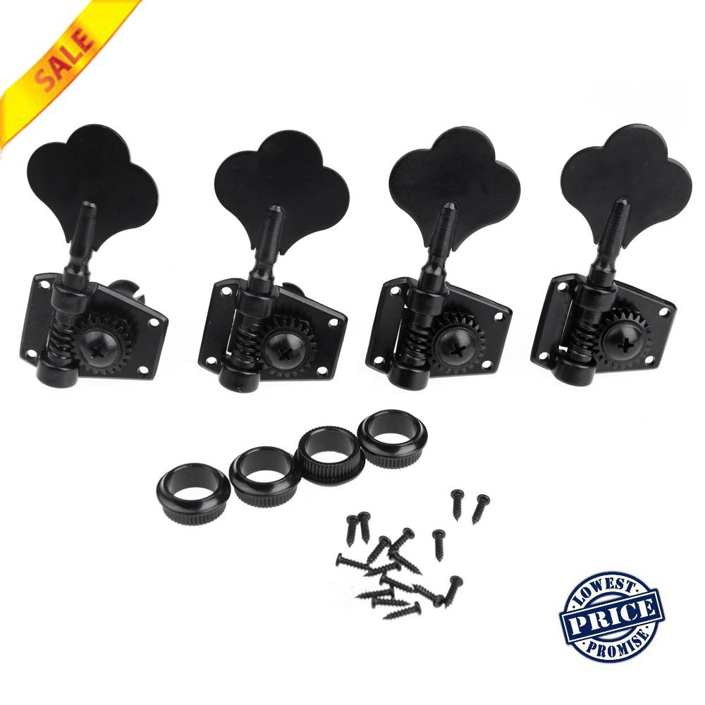 2018 4r black electric bass tuners machine heads tuning pegs keys set with mounting screws. Black Bedroom Furniture Sets. Home Design Ideas