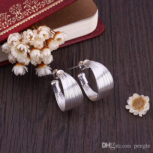 925 فضة الأزياء Fewelry العصرية أقراط فضة Pendientes brincos أقراط فضة إسقاط أقراط طويلة للنساء