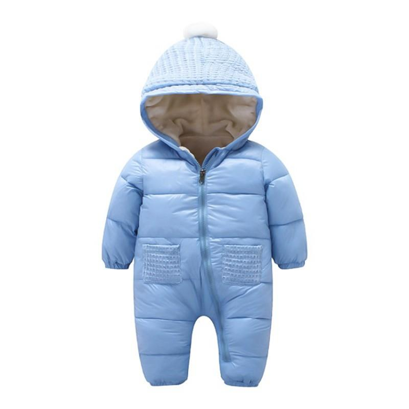 Winsummer Toddler Baby Boys Down Winter Fleece Coat Warm Hoodie Zipper Puffer Jacket Outdoor Ski Snow Wear