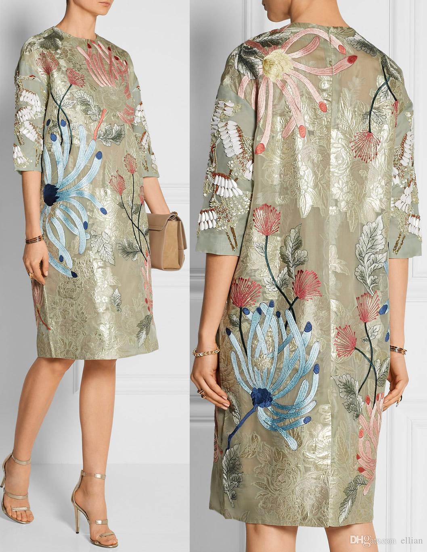666e8dd1a8b Luxury Women Print Shift Dress Half Sleeves Summer Party Dresses 0797 Women  Print Summer Online with  56.32 Piece on Ellian s Store