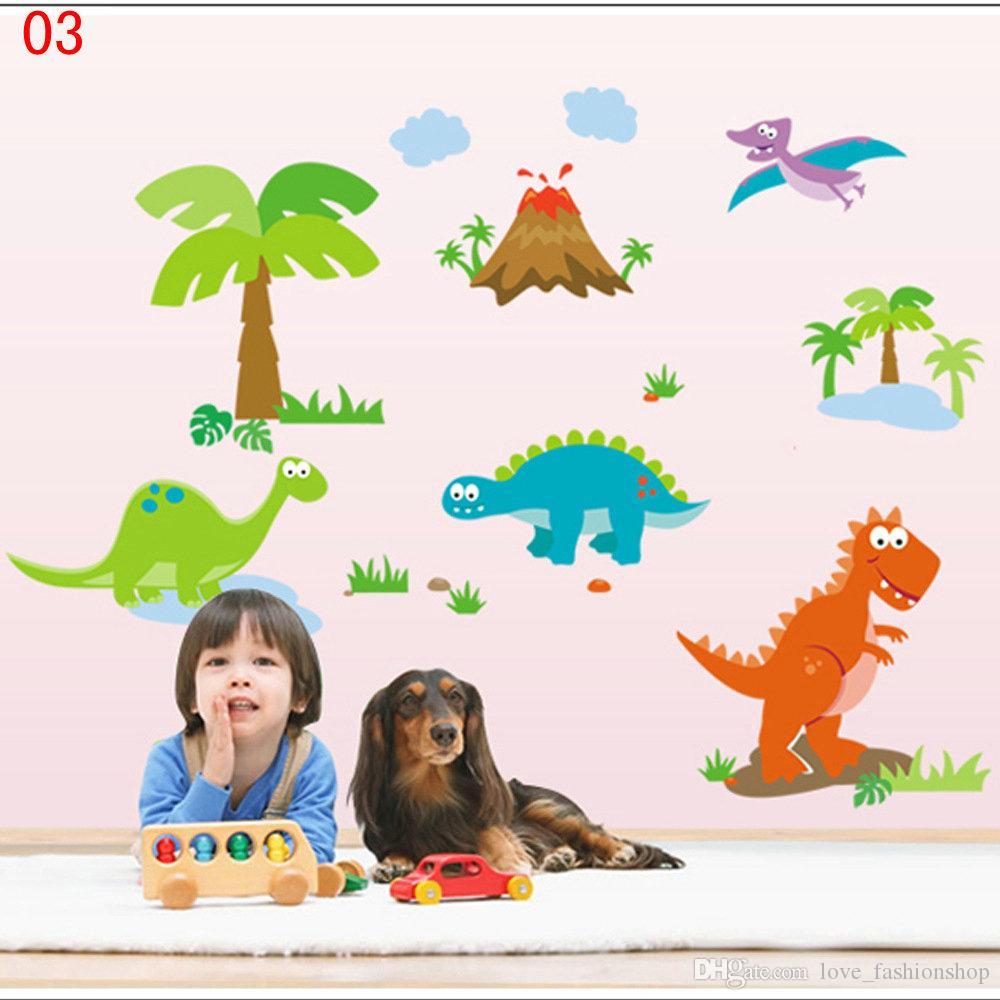 DHL Ems Mix 9 stilar Tecknade borttagbara väggklistermärken för barn Rum Barn Väggdekaler Bakgrund Väggkonst Heminredning Väggdekaler