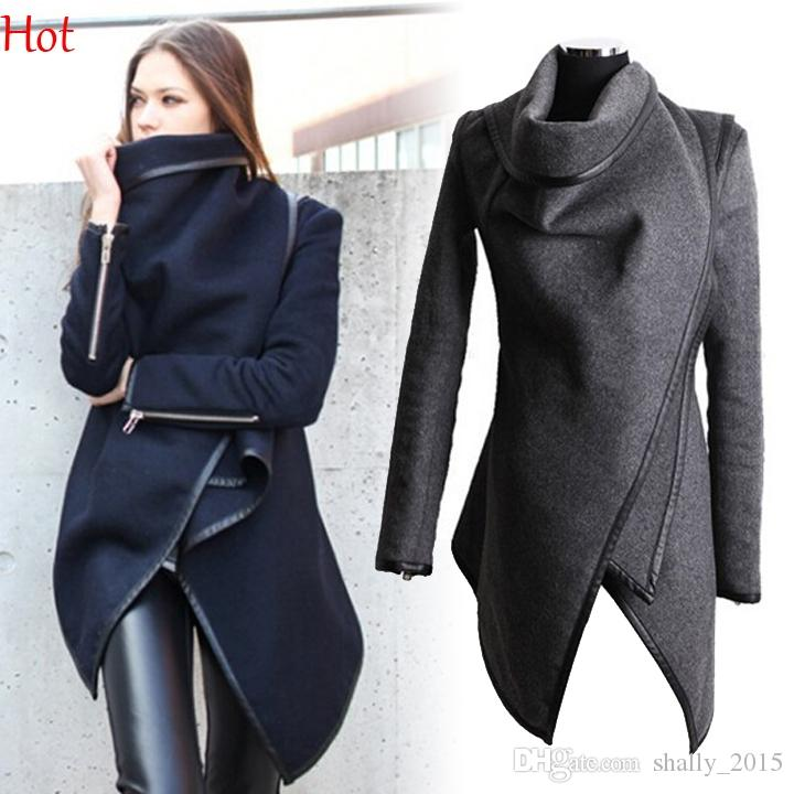 717bf3d1256 2015 Women Trench Coats Long Cashmere Overcoats Trench Jacket ...