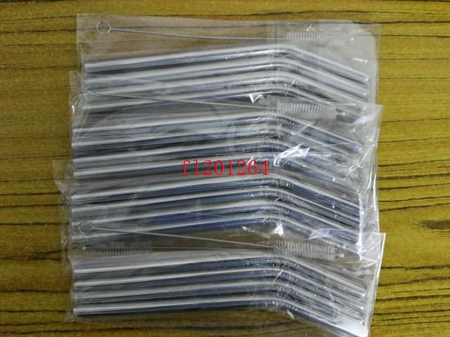 / 무료 배송 9.5x215x0.5mm 벤드 스테인레스 스틸 짚 1 개 금속 짚 브러시 opp 가방 패키지