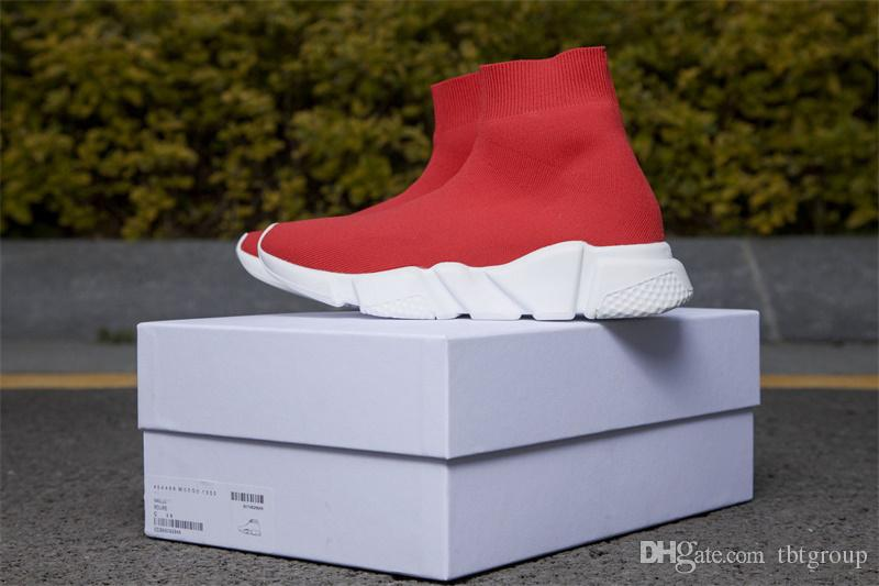 İyi Hız Çorap Sneakers Erkek Kadın streç-örme Mid spor ayakkabısı Hız Eğitmen ayakkabı Hafif Günlük Spor Ayakkabı toz torbaları çalışan