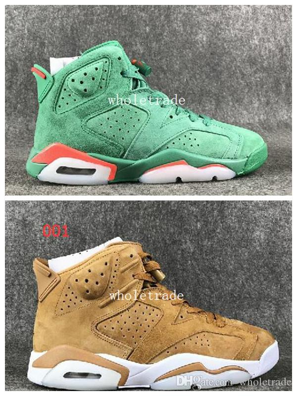 afa47d7c8dccbc Mens Shoes 6 6s Gatorade Green Basketball Shoes 6 Wheat Brown Sneakers For  Sale Size 8 13 Come With Box Shoes For Men Athletic Shoes From Wholetrade