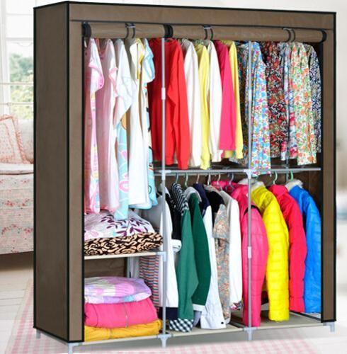 2019 Hhaini Portable Folding Clothes Wardrobe Closet