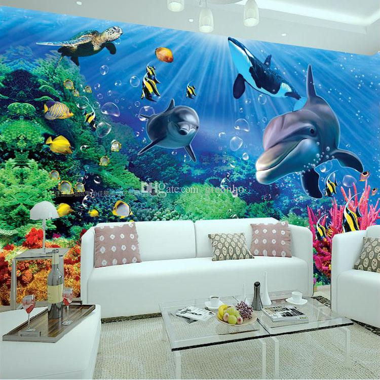 3d wall mural underwater world photo wallpaper interior for Best 3d wallpaper for bedroom