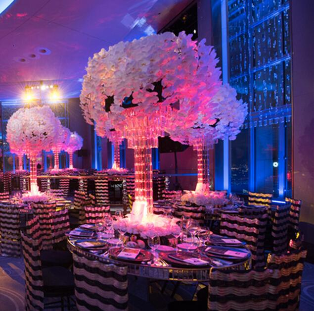 Latest Wedding Decoration Square Centerpieces Crystal Beads Table ...