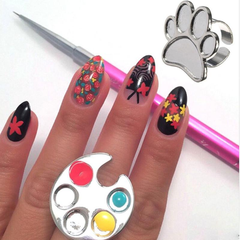 Wholesale Nail Art Equipment Manicure Tools Gel Polish Painting For Hand Ring Airbrush Stencil Diy Palette Stencils Kids
