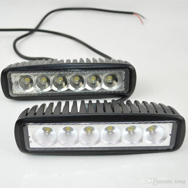 6 LED Work Light Mini 6inch 18W Bar UTV SUV ATV Boat Truck Tractor 4x4 accessories off road 10-30V Spot Flood Beam
