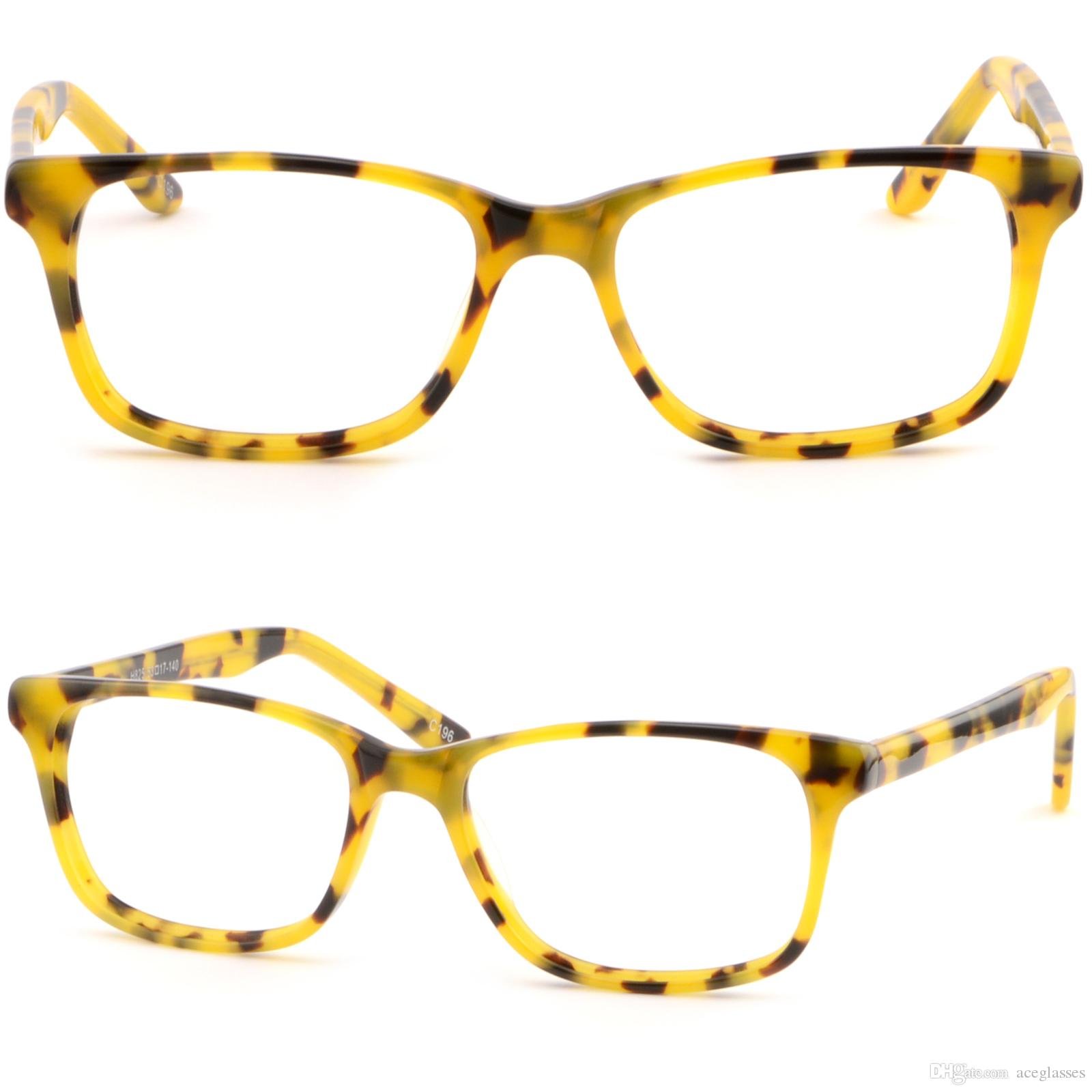 09927436b3 Thin Light Plastic Frame Prescription Glasses RX Sunglasses Tortoiseshell  Yellow Silhouette Eyeglass Frames Vintage Eyeglasses Frames From  Aceglasses