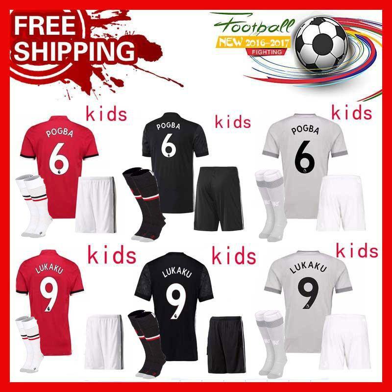 871c9090f 2018 Kids Kit 17 18 Man United Child Jerseys 2017 Lukaku Soccer Jersey Pogba  Martial Football Shirt Ibrahimovic Mata Mkhitaryan Rashford From  Bbb645934780
