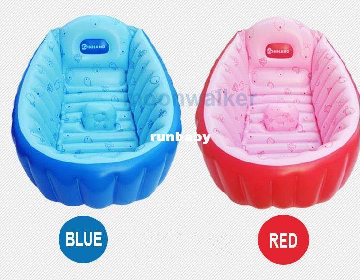 2017 Inhand Summer Portable Baby/Kid/Toddler Inflatable Bathtub Newborn  Thick Blue And Red Bath Tub Banera Bebe From Runbaby, $40.8 | Dhgate.Com
