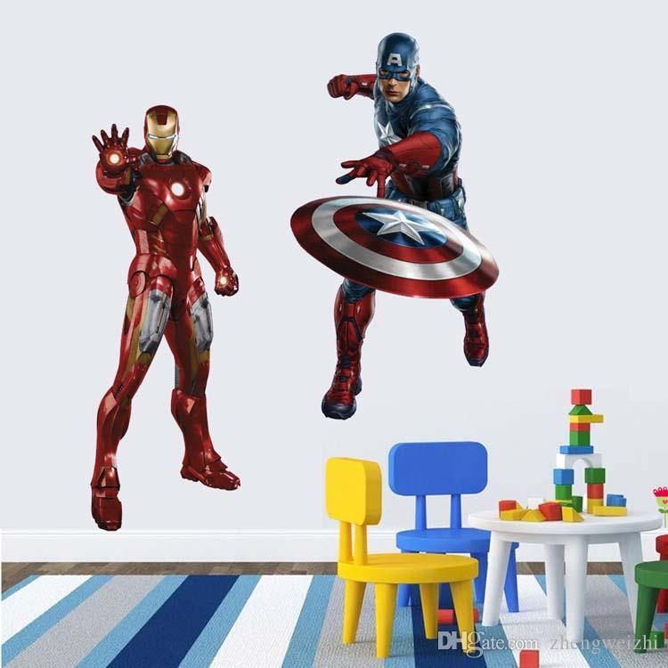 Best Sales D Wall Stickers For Kids Rooms Avengers Vintage Home - Spiderman wall decals uk