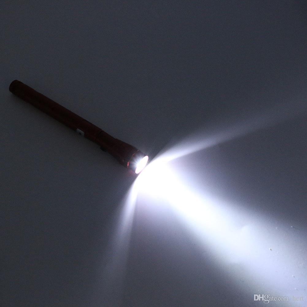 التخييم في الهواء الطلق المحمولة التكتيكية ضوء فلاش الشعلة الأضواء 3 الصمام تلسكوبي مرنة المغناطيسي مضيا بيك أداة