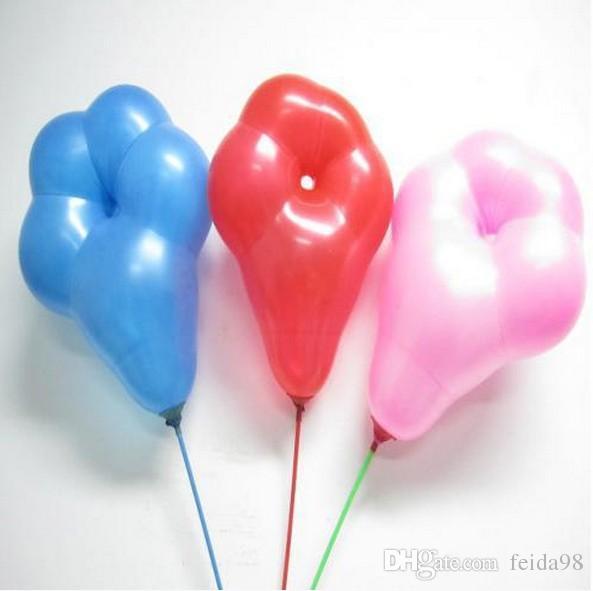 Palloncini di lattice di forma del fiore di prugna di trasporto libero Plum palloncini di quinconce il giocattolo della decorazione del partito