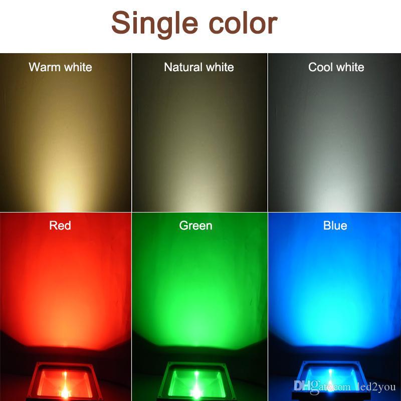 10W 20W 30W 50WのRGB Remtoe LEDのフラッドライト高電力防水LED屋外の洪水ライト暖かい/冷たい白AC 85-265V +保証2年