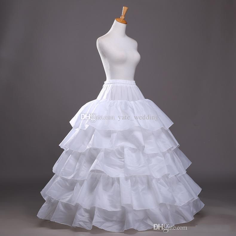 2017 جديد وصول الكرة ثوب quinceanera اللباس ثوب نسائي المتدرج البوليستر زلة أبيض الزفاف كرينولين في المخزون
