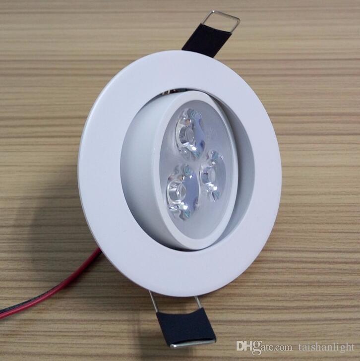 Regulable Downlight LED 3W AC110V 220V Sandy Silver White Black Body House y blanco frío Warm White puro
