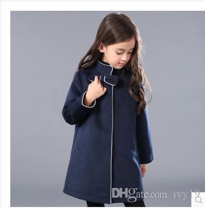 c41c2566047a Children Coat Girls Woolen Coat Collar In The Autumn And Winter Princess  Long In Children S Clothing Wool Coat Best Winter Coats For Toddlers  Discount Kids ...