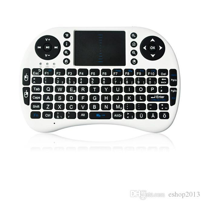 Rii 미니 i8 i8 + 키보드 X50 터치 플라이 에어 마우스 충전식 배터리 USB 케이블 휴대용 2.4G 무선 키보드 마우스 콤보 터치 패드 PC