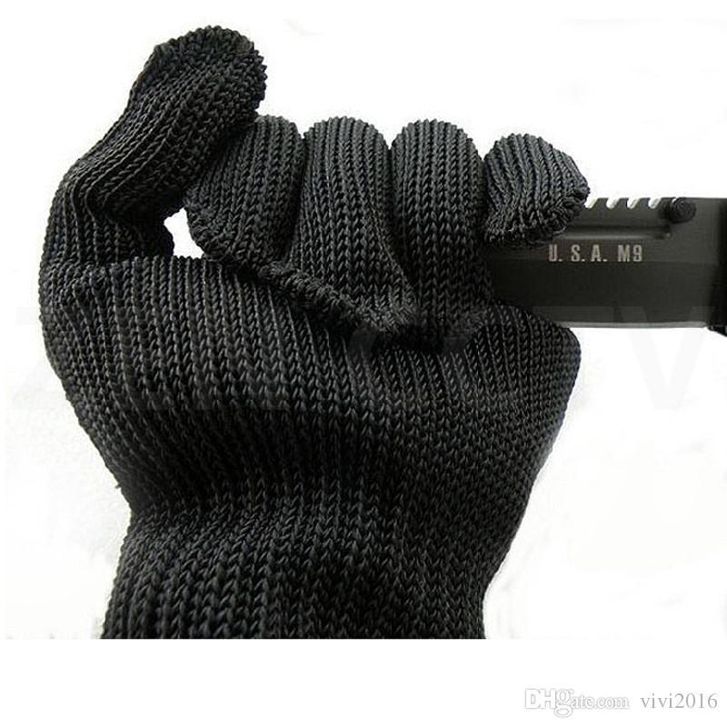 قفازات سلامة العمل الطعنة والدليل على مكافحة قطع سكين مقاومة الشخصية الدفاع عن النفس قفاز Stabproof اقية غير القابل للصدأ أسلاك الفولاذ