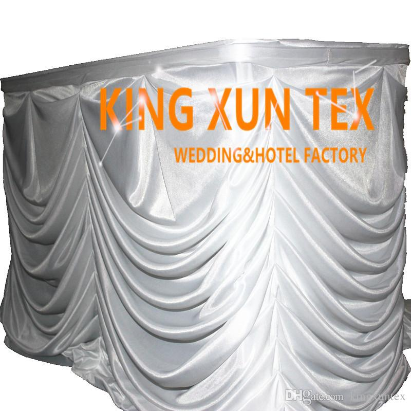 New Design Ice Silk Table Skirt Table Cloth Skirting For Wedding And Event  Decoration Table Skirt Table Skirting Wedding Table Skirt Online With  $58.0/Meter ...