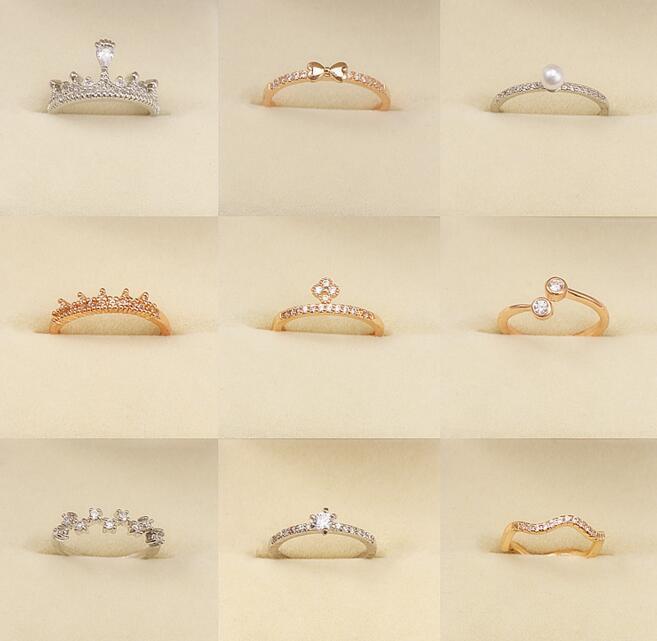 Бесплатная доставка / серия Не Fade Mix Style Mix Размер кольцо способа для ювелирных изделий подарка RI28