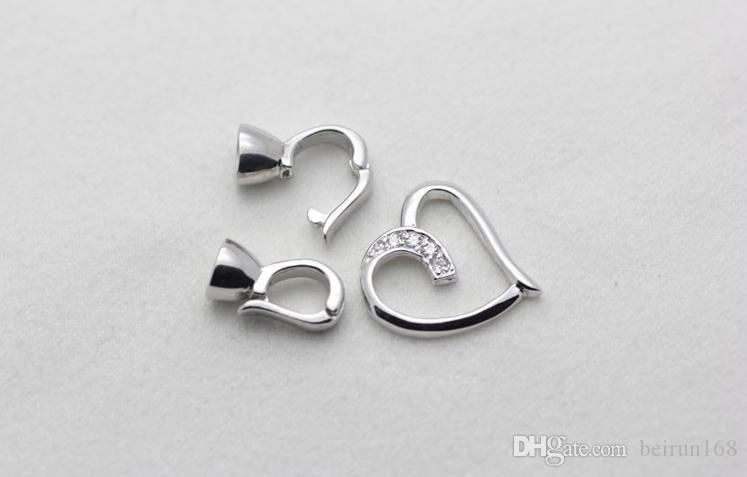 Wholesale Pearl accessories Yu fu yuan 925 silver heart-shaped pearl necklace bracelet clasp YPJ39