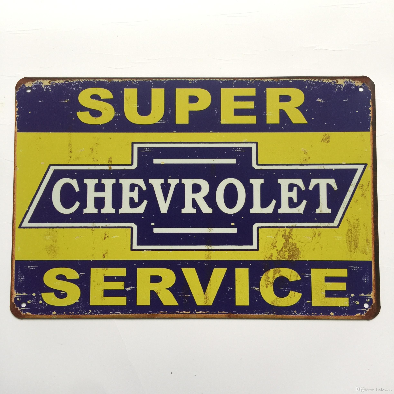 2018 Super Chevrolet Service Tin Sign Vintage Home Bar Pub Hotel ...