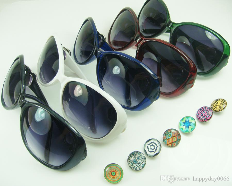 Compre Novos Moda Moda Bijuterias Diy Altas De Sol Ao Ar Livre Cabem Chunks  Alloy Snap Button Acessórios De Charme Óculos De Sol Atacado C1 De  Happyday0066, ... 29b1a48452