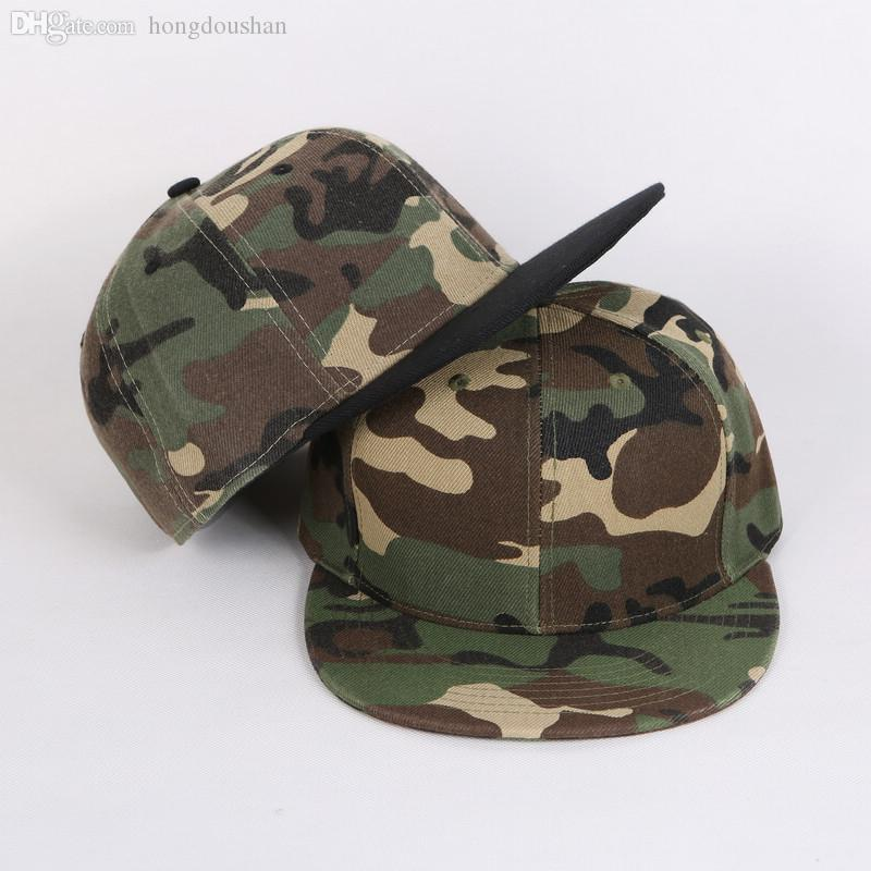 185fcb9a Wholesale-Camo Army Cap Gorras Snapback Hats Camouflage light board spell  color cap hip-hop brimmed hat hat baseball cap camouflage hats