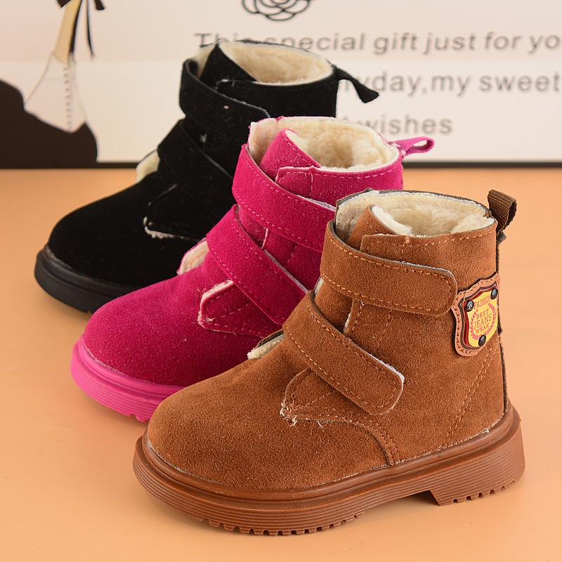 f92562ada6a Foreign Trade 2017 Fashion New Winter Boys Girls Boots Rubber Sale Short  Thick Warm Snow Boots Shoes Kids Children Black Rose Brown Winter Boots For  Toddler ...