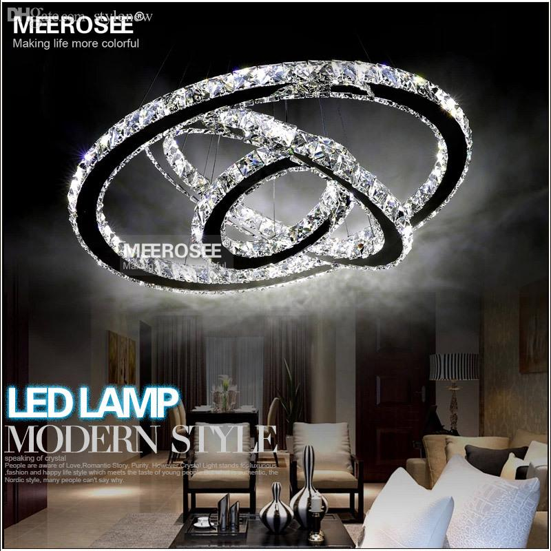 Wholesale Modern Crystal Chandelier Led Diamond Ring Crystal