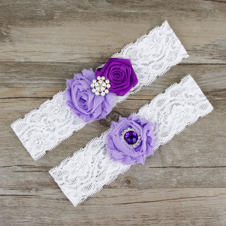 Compre Sexy Blanco Lace Nupcial Ligas Con Cristal Hecho A Mano Flor ...